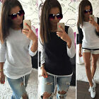 Women Loose Crew Neck Top  Pullover Ladies T Shirt Long Sleeve Tops Shirt Blouse