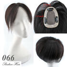 Base 2.7*3.9'' Remy Human Hair Topper Toupees Clip in Hair Extensions For Women