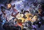 Large Transformers Shockwave Optimus Prime Megatron Canvas Picture Wall Art