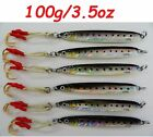 1-10 pcs Knife Jig 3.5oz/100g Sardine Vertical Butterfly Saltwater Fish Lures