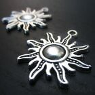 Sun Charms - Wholesale Antiqued Silver Plated Pendants C4430 - 10, 20 Or 50PCs