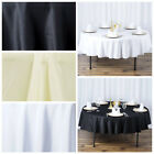 "10 90"" Round Premium Polyester Tablecloths Wedding Party Table Linens Wholesale"
