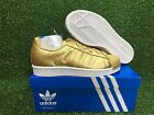Adidas Original Superstar J Foundation Kids GS Youth New Shoe Gold/White BB8129