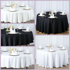Round Premium High Quality Polyester Tablecloth Wedding Party Table Linens SALE