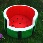 Dog Bed Warm Plush Soft Breathable Watermelon Pattern Pet Bed Cotton Pad Cat Bed