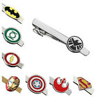 Buy 2 Get 1 Free Engravable Superhero Justice League Marvel Tie Bar Clip Clasp $5.99 USD
