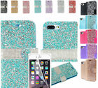 """Film LCD+Rhinestone PU Leather Wallet Case Cover For Apple iPhone 7+ Plus 5.5"""""""