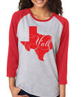TEXAS Y'ALL cute fun southern state of hipster Unisex 3/4 Sleeve Baseball Tee