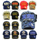 Baseball Cap VETERAN Army Marine Air Force Navy Military Official Licensed Hat