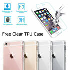 For iPhone 7/ 7Plus Clear Crystal TPU Case +Tempered Glass Screen Protector