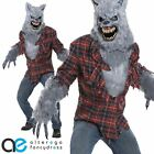 GREY LYCAN WEREWOLF ANI-MOTION HALLOWEEN COSTUME ADULT MENS FANCY DRESS