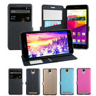 4 Colors Windows PU Stander Card Solt Pu Cover Case For BLU ENERGY XL