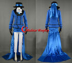 Black Butler Ciel Phantomhive Cosplay Costume with long train