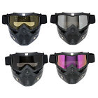 Motorcycle Goggles Helmet Riding Protective Face Mask Shield Nose Ski Scooter