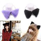 New Fashion Colorful Cat Fox Long Fur Ears Hair Clip Halloween Cosplay Party