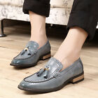 New Men's Dress Casual Leather Ttassel Wingtip Loafer Oxford Brogues Shoes