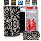 Universal Paisley Canvas Mobile Cell SmartPhone Wristlet Case Cover MLPS