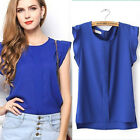 Women Chiffon  Tops Loose  Blouse  Fashion  T Shirt Plain Casual