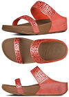Brand New FitFlop 509-210 Women's Flame Shimmer Novy Slide Sandals