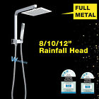 """2IN1 Durable Square Spray Slim Rainfall Top Hand held Shower Head in 8""""10""""12""""Set"""