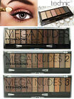 Technic 6/12 Colours Mega Nudes Eyeshadow Palette highlighter beige black brown