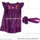 Nwt Crazy 8 Girls size 2 2T Purple Floral Dress Hair Outfit hair 2pc set new