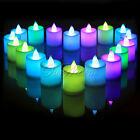 6/12/24pcs Colorful Flameless LED Tea Light Candle Wedding Party Xmas Home Decor