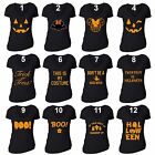 Women HALLOWEEN T shirt Costume Jack O lantern Shirt Don't Be a Basic Witch