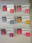 """Resin 3/4"""" Square Piglet and Flowers Stud Earrings Free Shipping-Various Colors"""