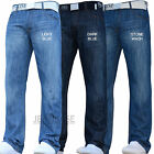 NEW MENS SMITH AND JONES STARIGHT LEG DESIGNER DARK JEANS PANTS ALL WAIST SIZES