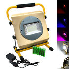 Portable 100w RGB 100 LED 2400LM Rechargeable Work Spot Flood Camp Light 4x18650
