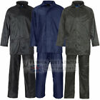 Waterproof Rainsuit Jacket And Trouser Set Suit Mens Ladies PVC Kit Wet Gear