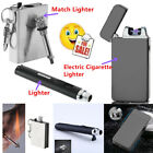 BEST USB Electric DualArc Flameless Torch Rechargeable Windproof Lighter GN