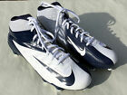 Nike Vapor Pro D Mid Men's Navy Blue White Football Cleats SZ 13 NWOT