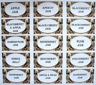 24 x Small Attractive Various Jam Preserve labels Rustic Style 63mm x 34mm