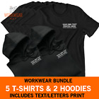 Personalised Clothing Workwear Business Company Uniform CUSTOM PRINTED TEXT