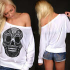 Multi-Size New Fashion Women Loose Long Sleeve Tops Blouse Casual Cotton T-Shirt