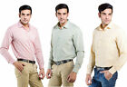 LNY Mens Cotton Casual Shirt - LNY111738 (Pack of 3)