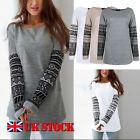 Womens Loose Casual Long Sleeve T Shirt Tops Blouse Oversized Long Tee Shirt