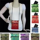 Cell Phone Cross Body Bag Silk Thai Elephant Wallet Small Money Purse for Women