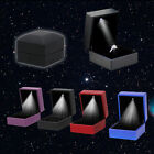 LED Lighted Earring Ring Gift Box Wedding Engagement Ring Jewelry Display New