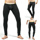 Men's Cotton Warm Pants Thermal Slim Long Johns U Convex Pouch Pajamas New