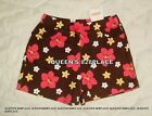 Nwt Gymboree girls size 3 3T brown pink yellow Flower bow shorts floral new