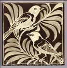 Metric Porcelain Tiles William De Morgan Weaver Birds Black & Gold Walls Floors