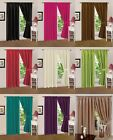 Pair Of Lined Faux Silk Pencil Pleat Curtains With Tie  Backs