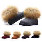 STO Womens Lady Winter Warm High Long Snow Ankle Boots Faux Fox Tassel Shoes