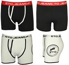 MENS DESIGNER UNDERWEAR X 2 BOXERS ETO IN BLACK & WHITE BRANDED RRP £19.99