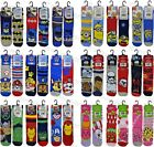 6 Pairs Childrens Boys Girls Official Character Socks Novelty Cartoon Tv Theme