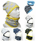 Boys / Junior Hat With tube Scarf Cotton/Minky / DOUBLE-SIDED /1-3y/4-10 years