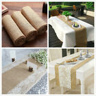 Hessian Lace Table Runner Burlap Roll Vintage Rustic Wedding Xmas Party DIY Sash
